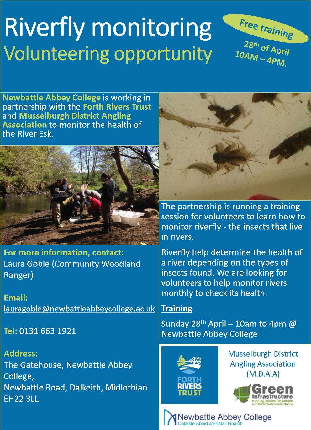 Riverfly Monitoring  Volunteer Training Opportunity